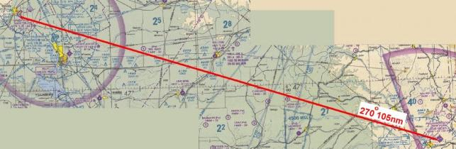 flight planning on chart
